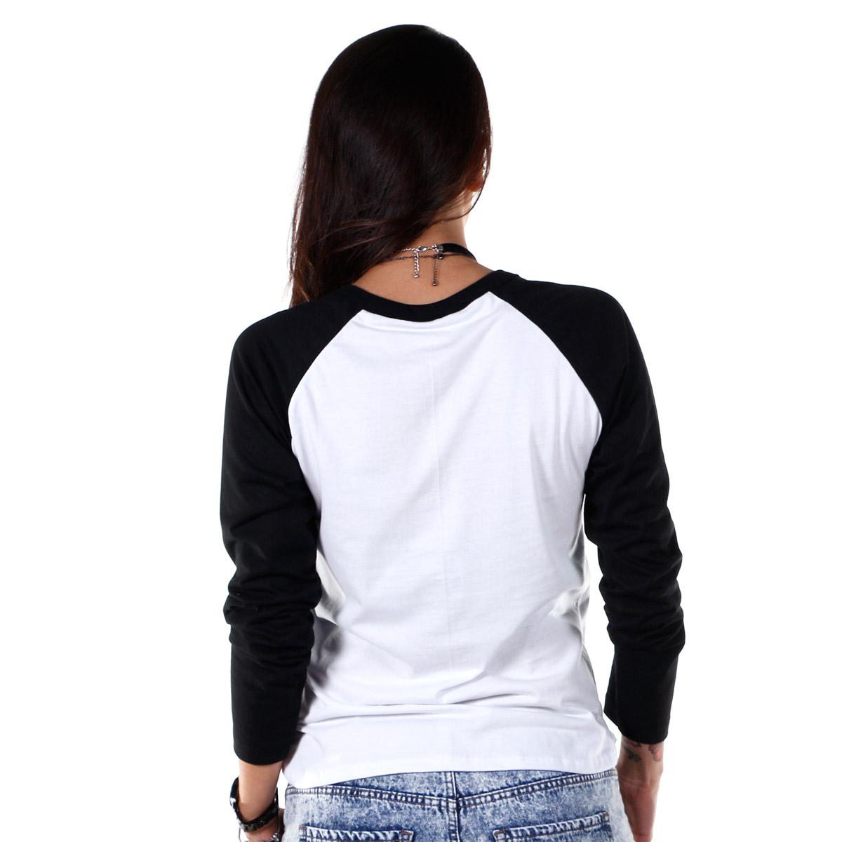 Camiseta Manga Longa Raglan Feminina Fresno Juntos Somos Maré Viva