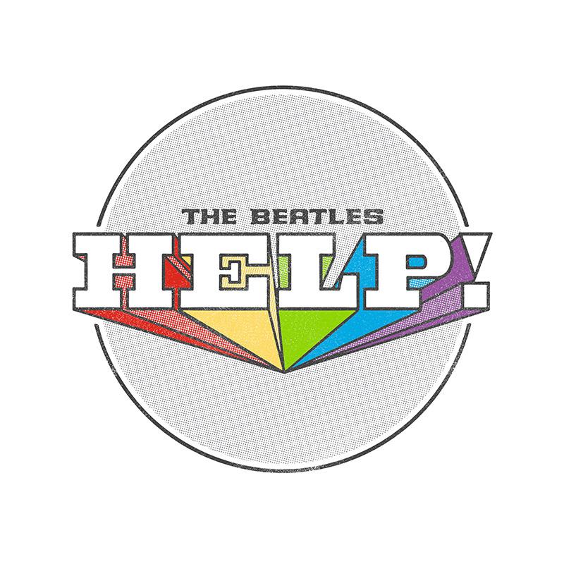 Camiseta Manga Longa Raglan Feminina The Beatles Help! 2