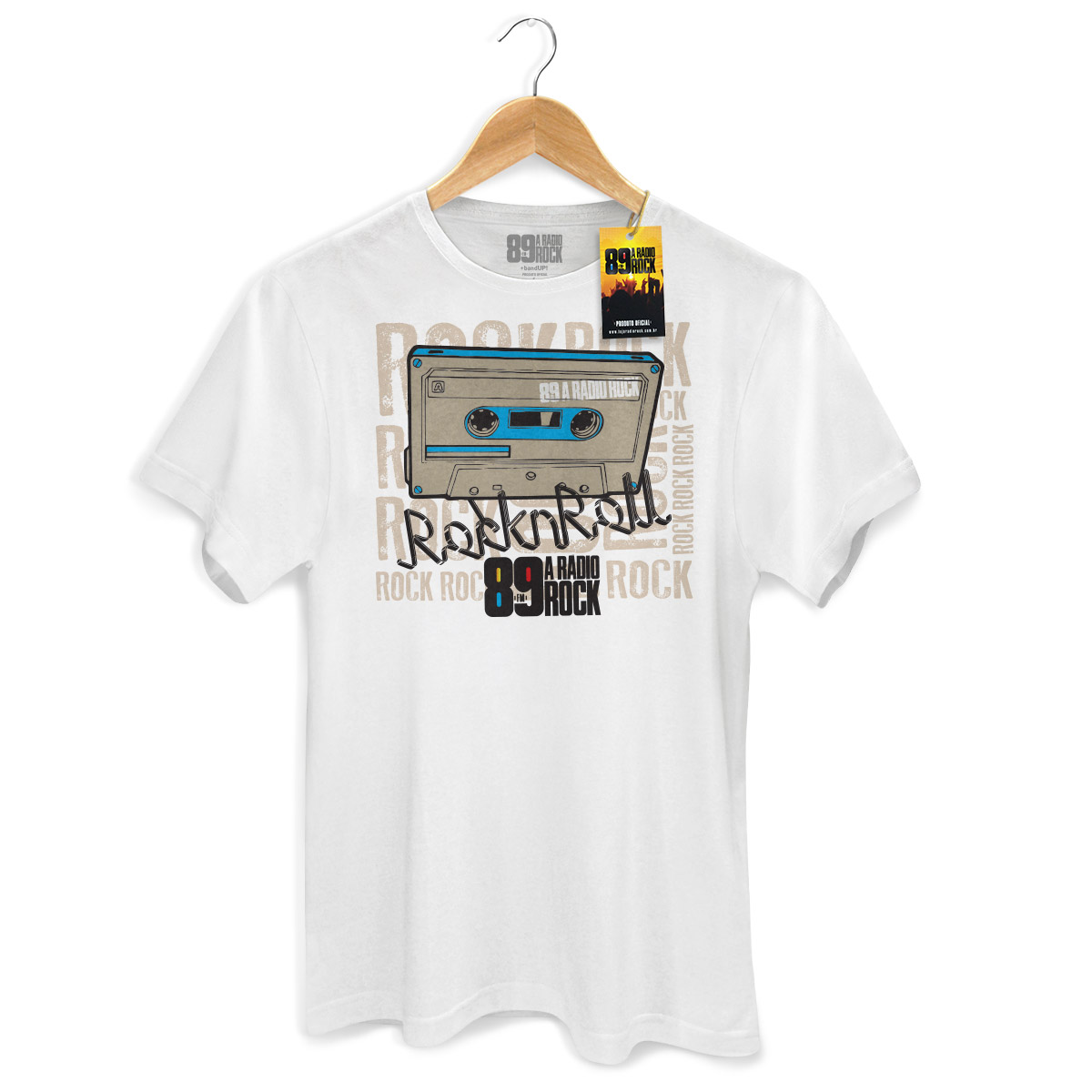 Camiseta Masculina 89 FM - Rock n Roll