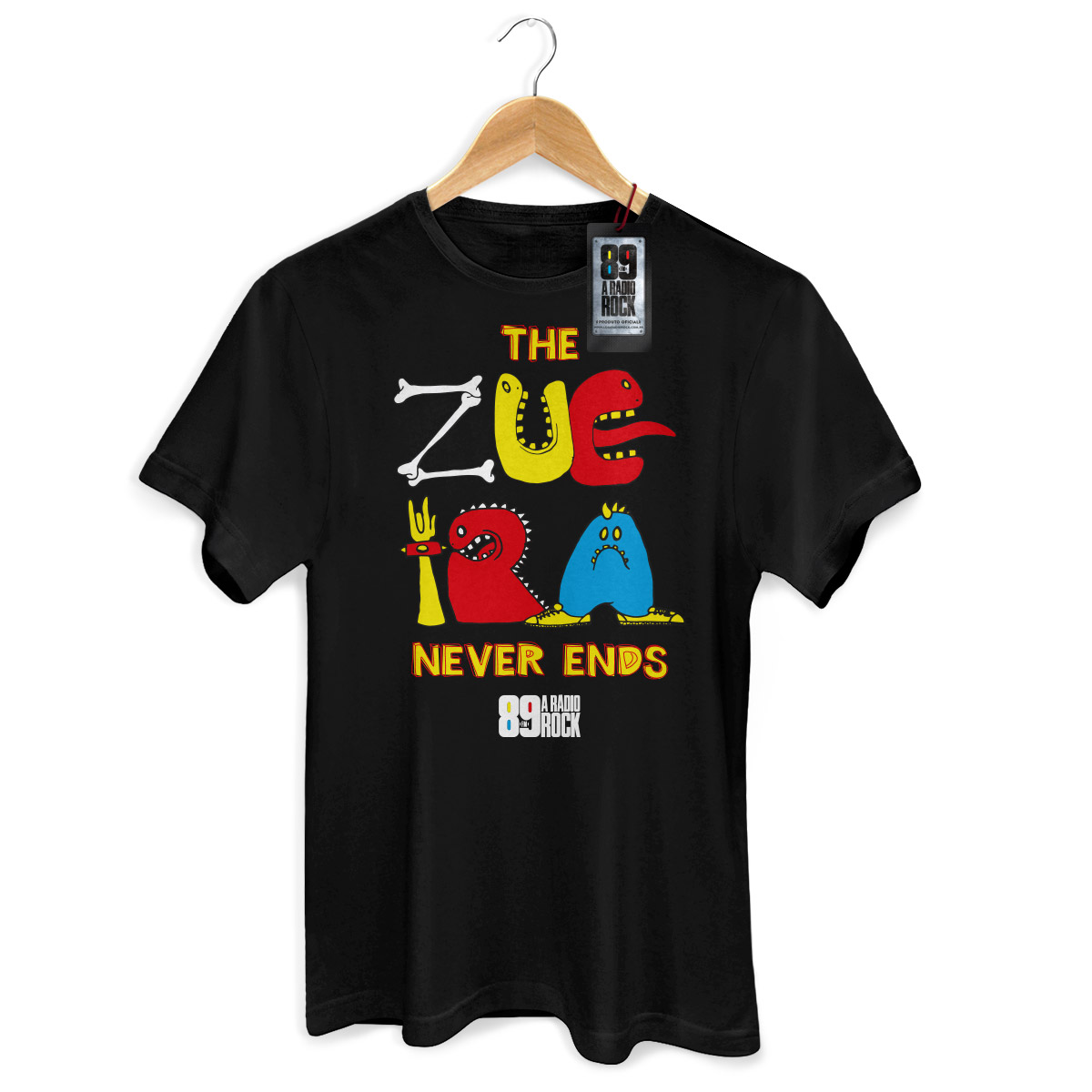 Camiseta Masculina 89FM A Rádio Rock Monster Type