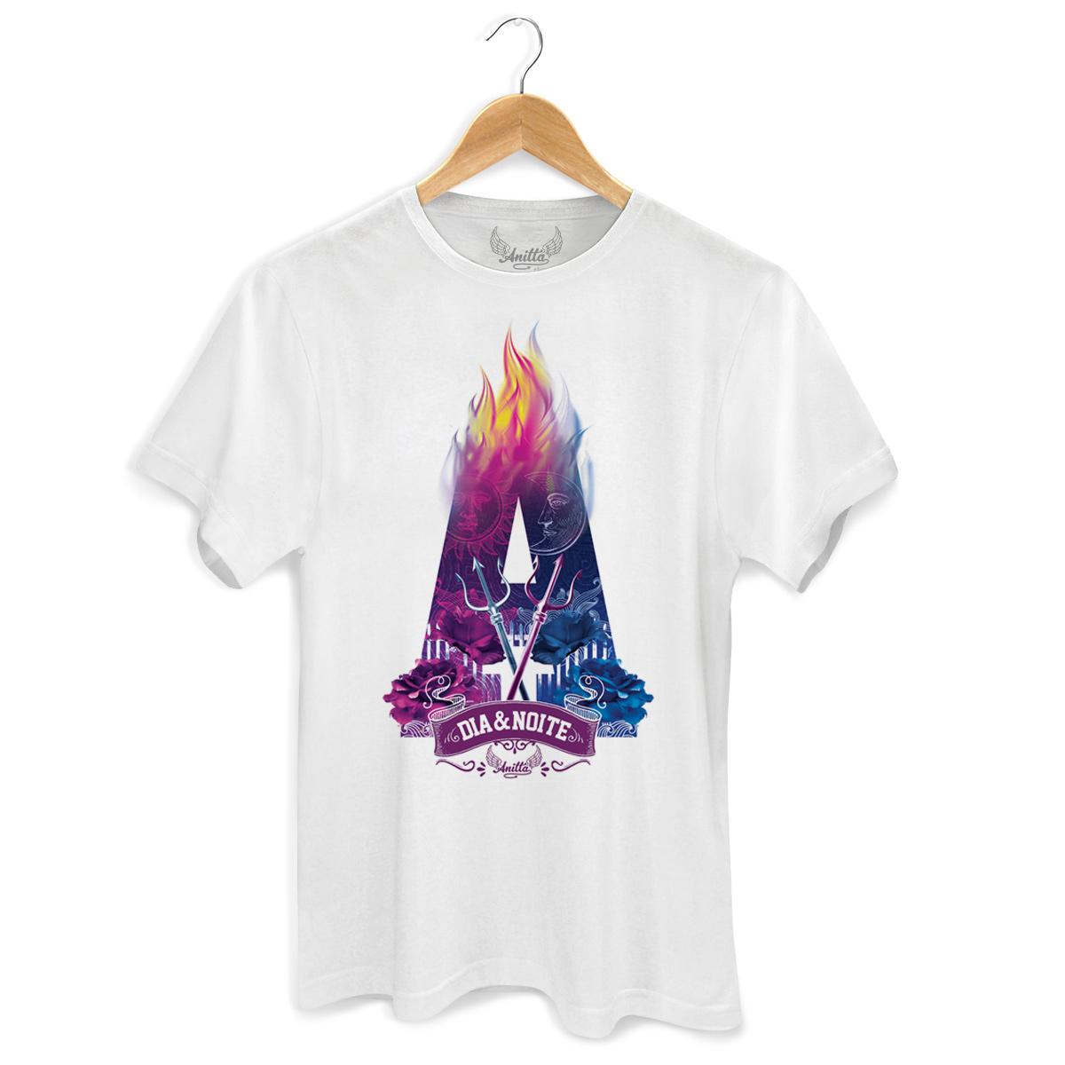 Camiseta Masculina Anitta Dia e Noite