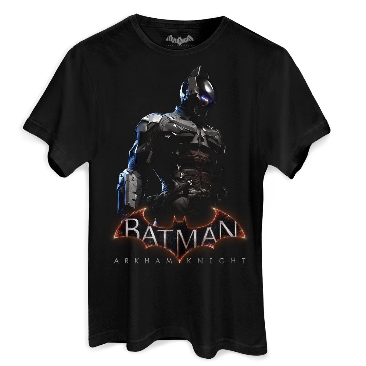 Camiseta Masculina Batman Arkham Knight Steel