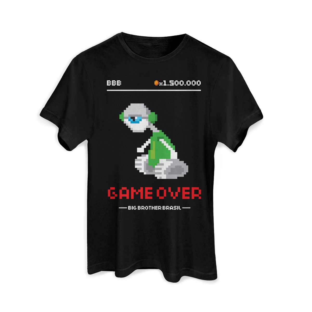 Camiseta Masculina Big Brother Brasil 15 Game Over
