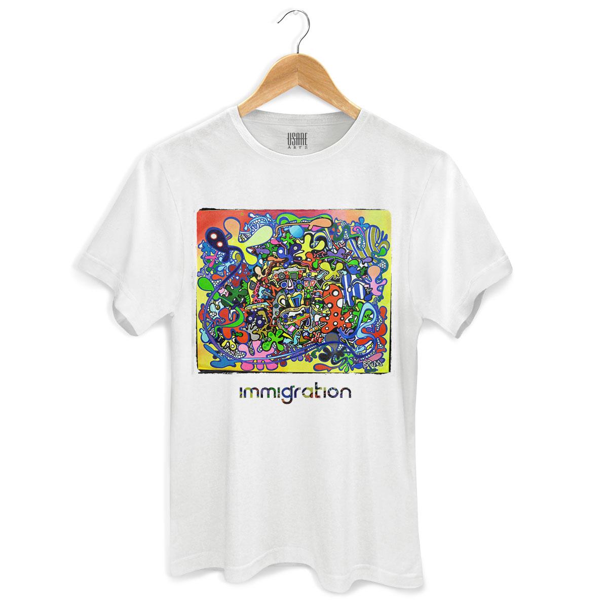 Camiseta Masculina Bruna Immigration