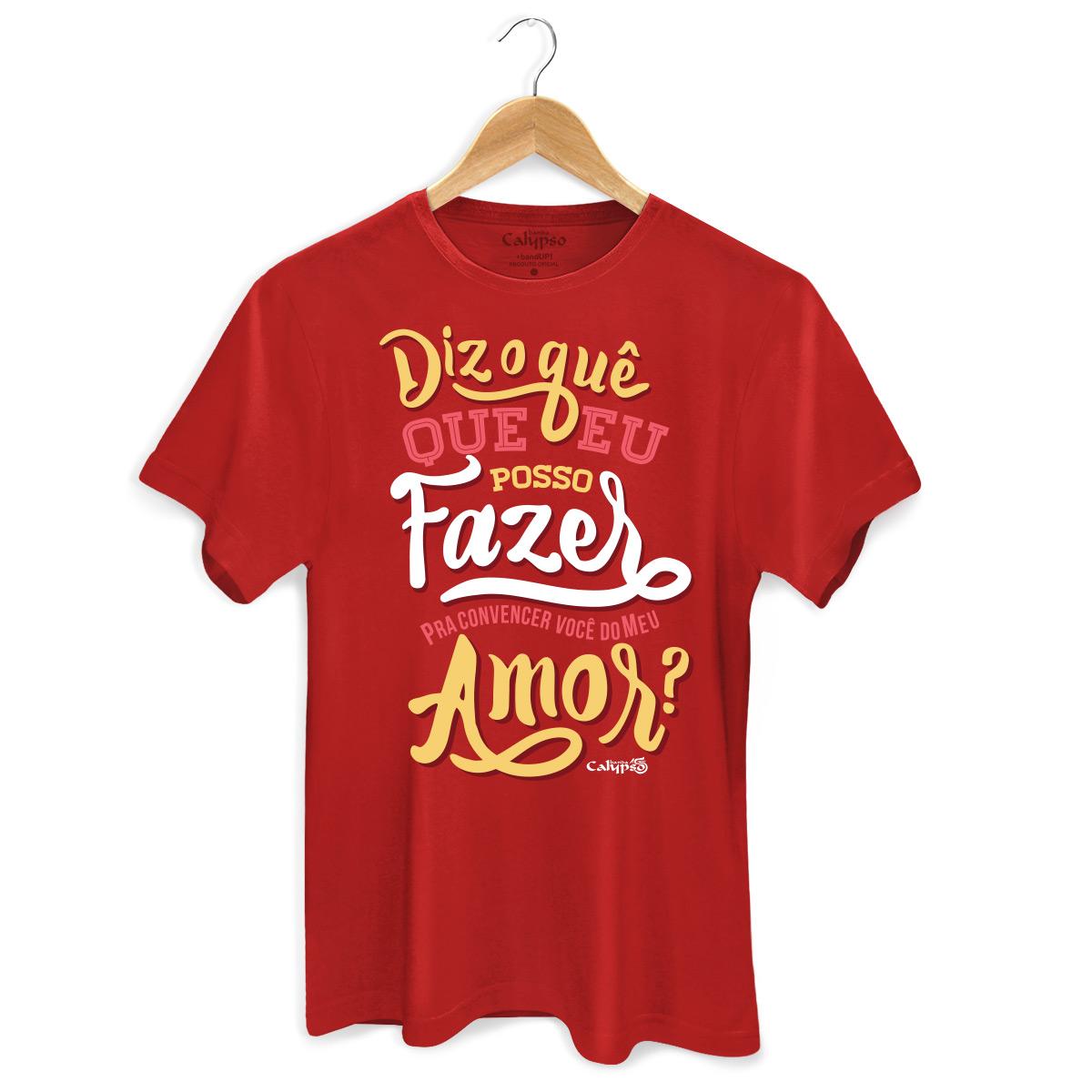 Camiseta Masculina Calypso Vamos Ficar de Bem