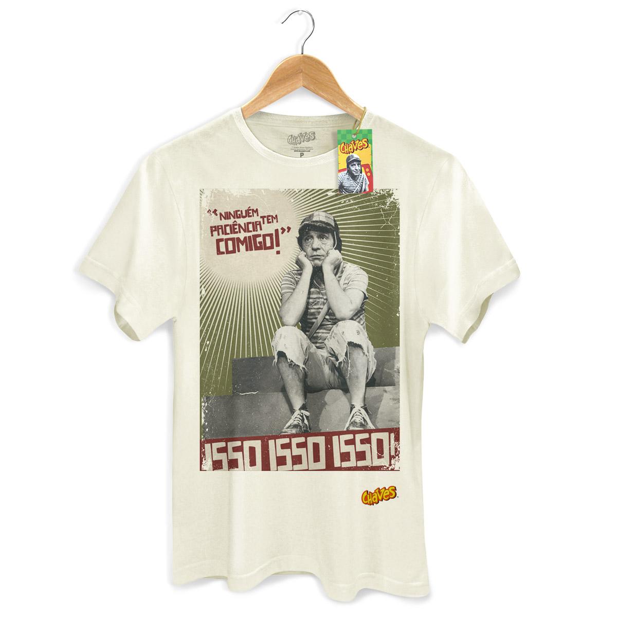 Camiseta Masculina Chaves Ninguém Tem Paciência Comigo! 2