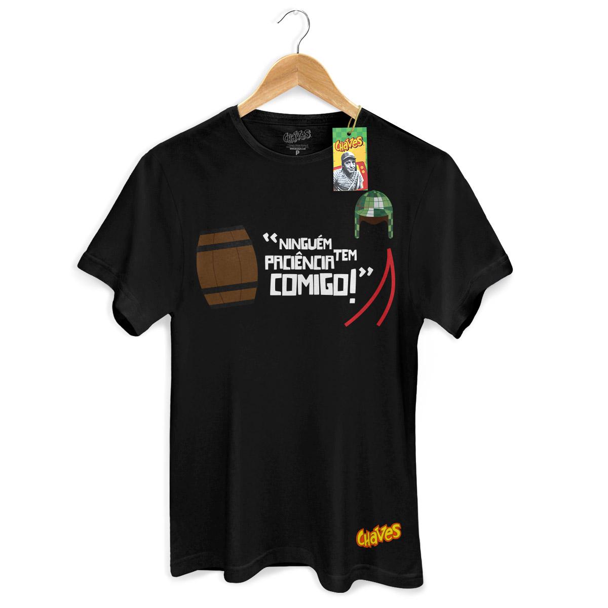 Camiseta Masculina Chaves Ninguém Tem Paciência Comigo! 3