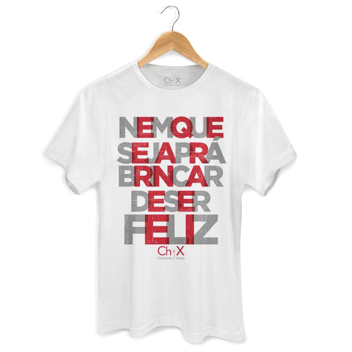 Camiseta Masculina Chitãozinho & Xororó Brincar de Ser Feliz