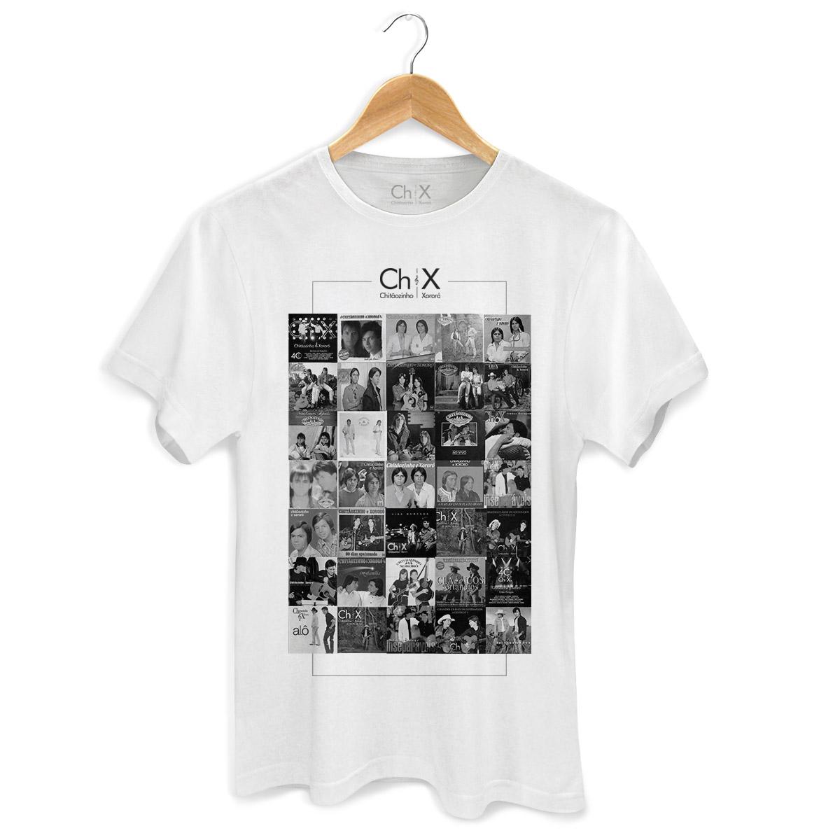 Camiseta Masculina Chitãozinho & Xororó Discos