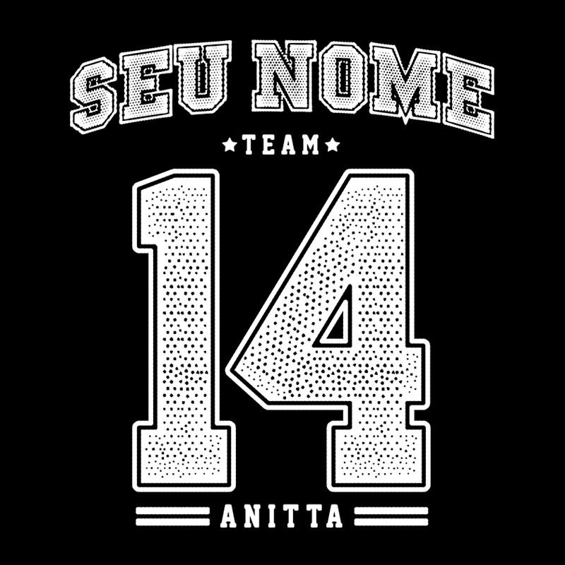 Camiseta Masculina de Manga Longa Anitta College Team 2