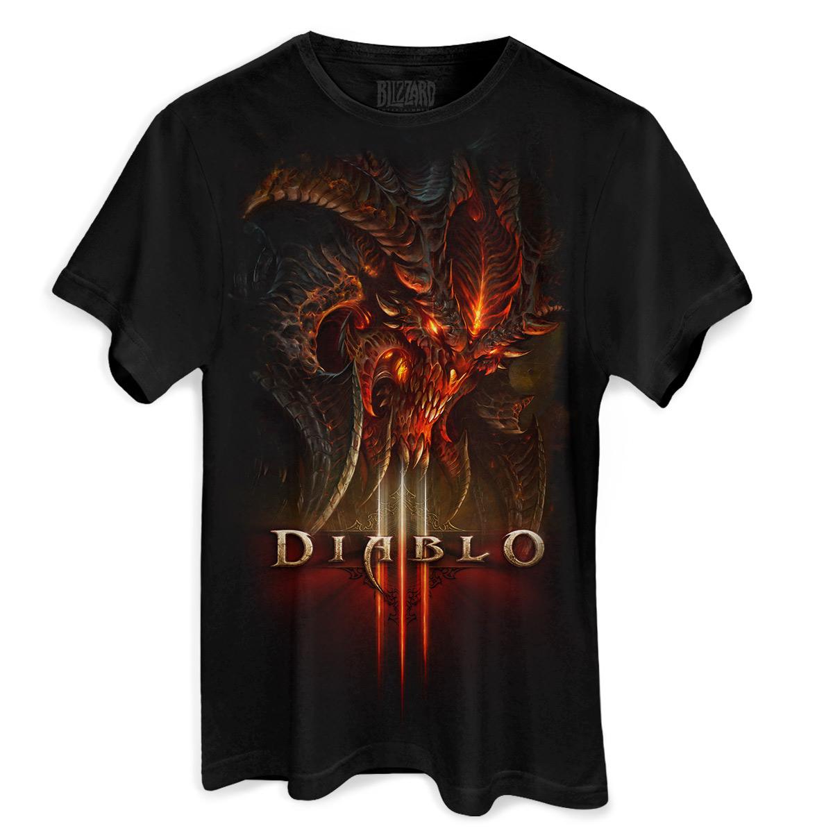 Camiseta Masculina Diablo III Head