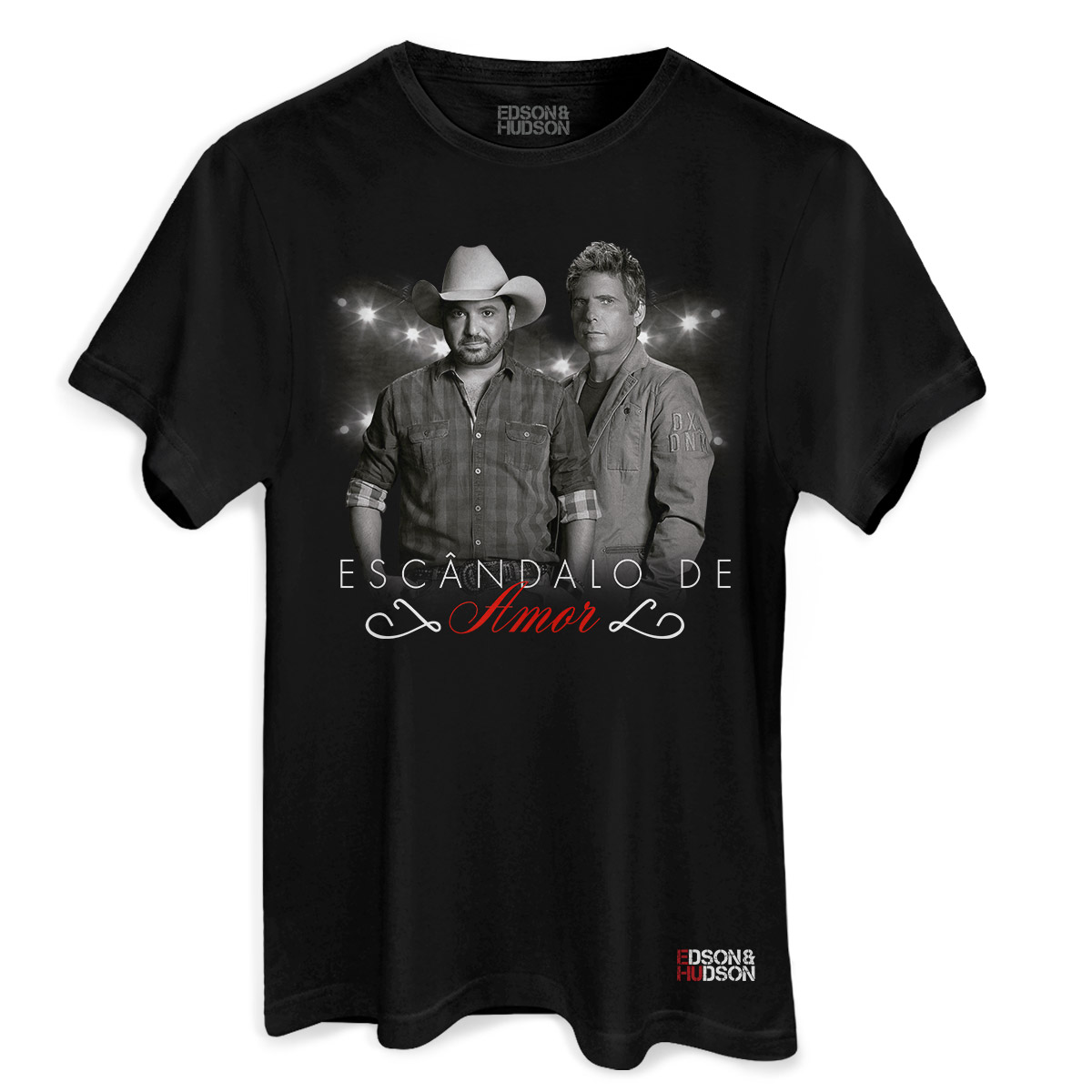 Camiseta Masculina Edson & Hudson Escândalo de Amor Foto
