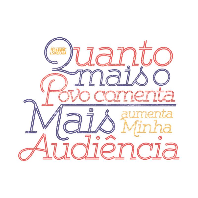 Camiseta Masculina Fernando & Sorocaba Eu Fico Pop