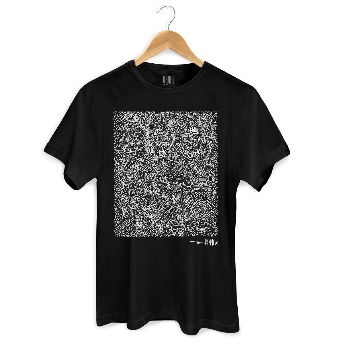 Camiseta Masculina Fino Farofa de Religião Black