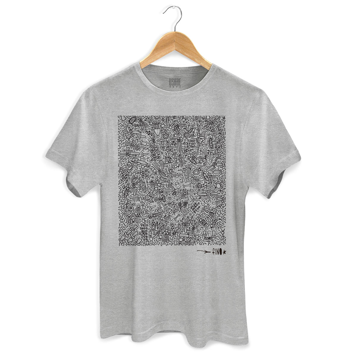 Camiseta Masculina Fino Farofa de Religião Gray