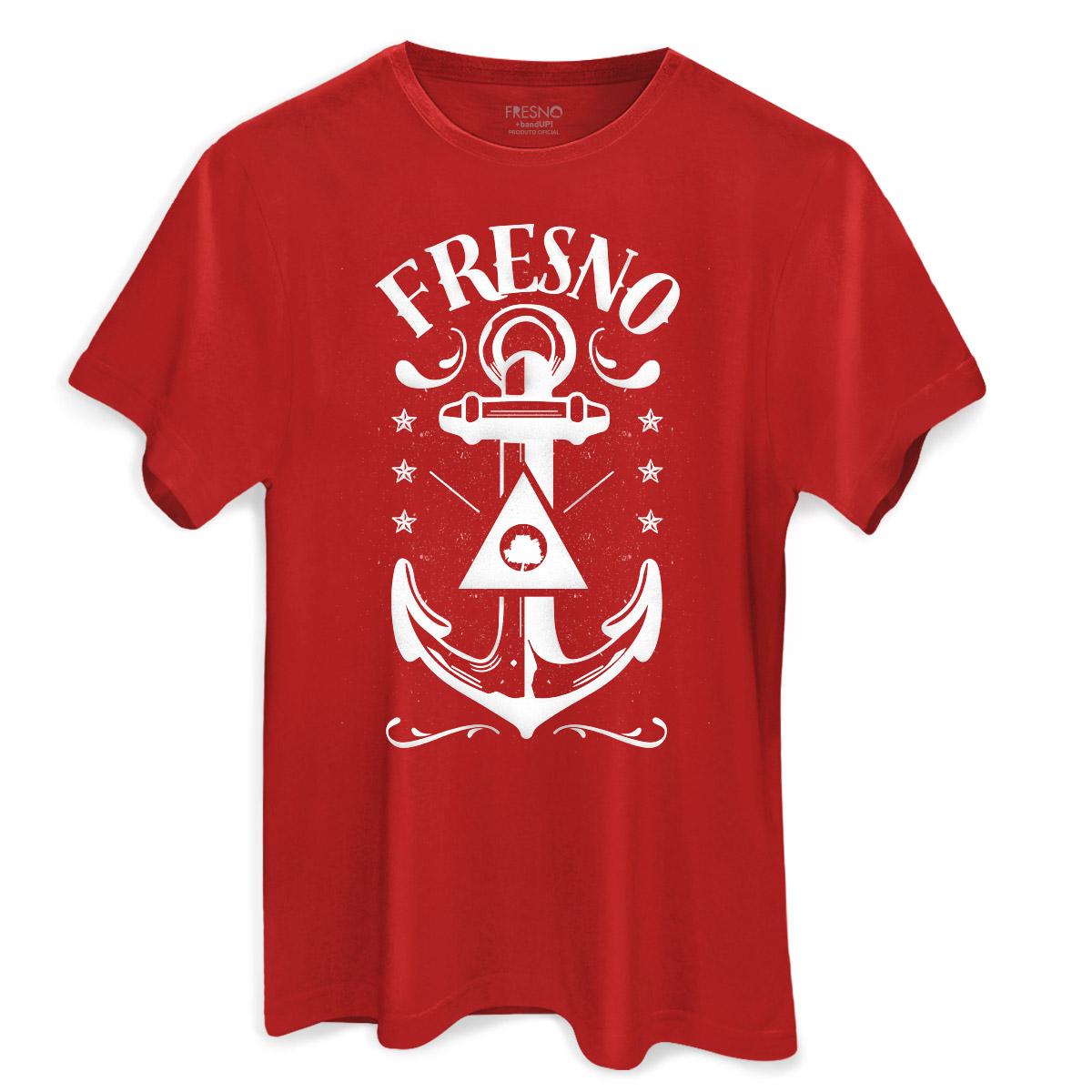 Camiseta Masculina Fresno Anchor Red