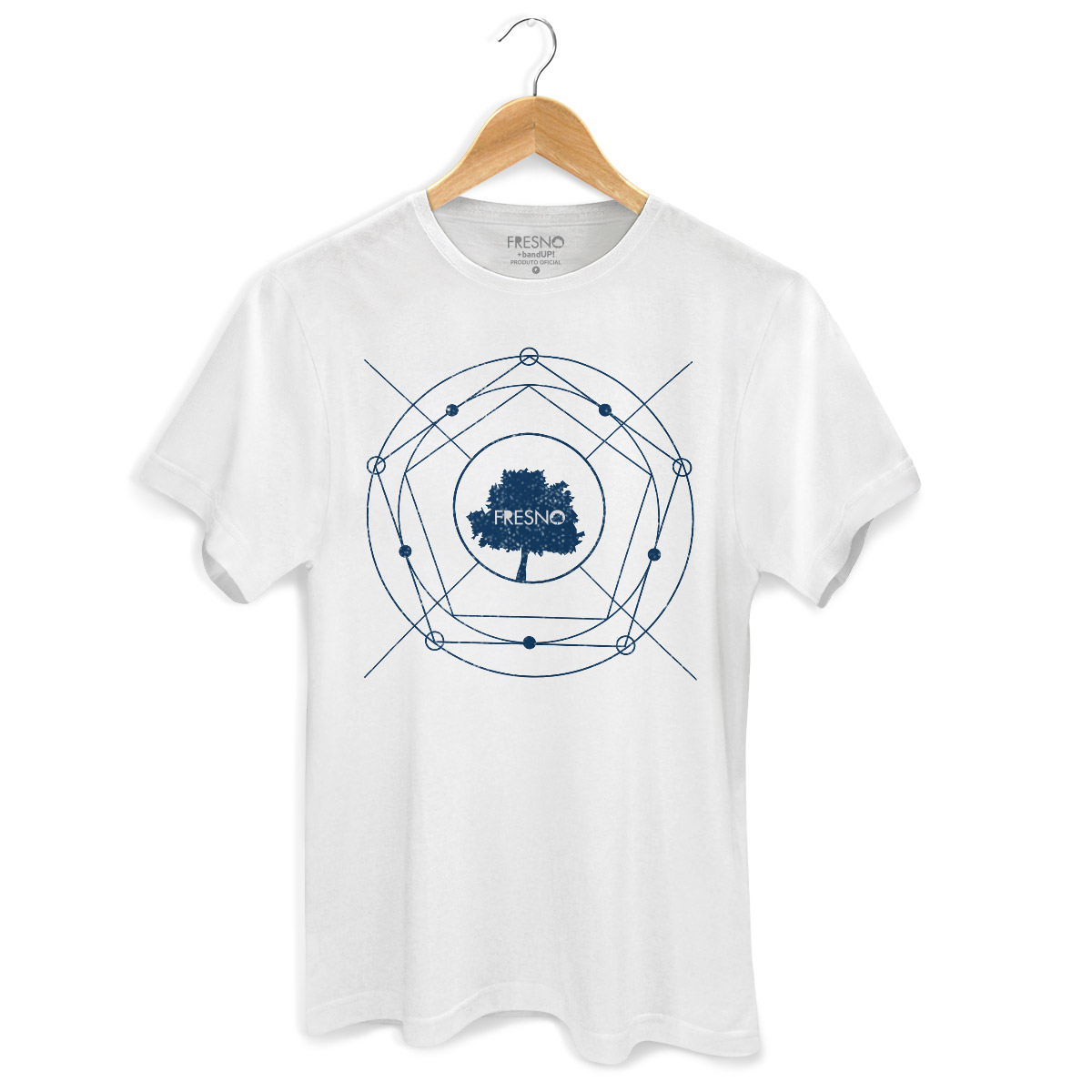 Camiseta Masculina Fresno Árvore Diagrama