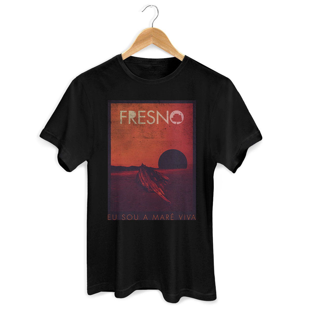 Camiseta Masculina Fresno Capa Black