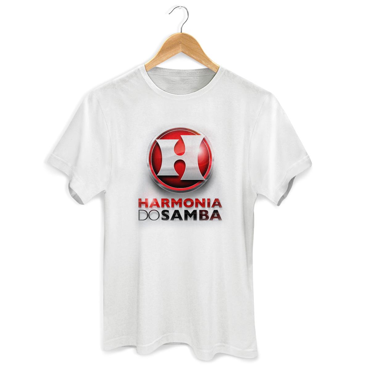 Camiseta Masculina Harmonia Do Samba Logo