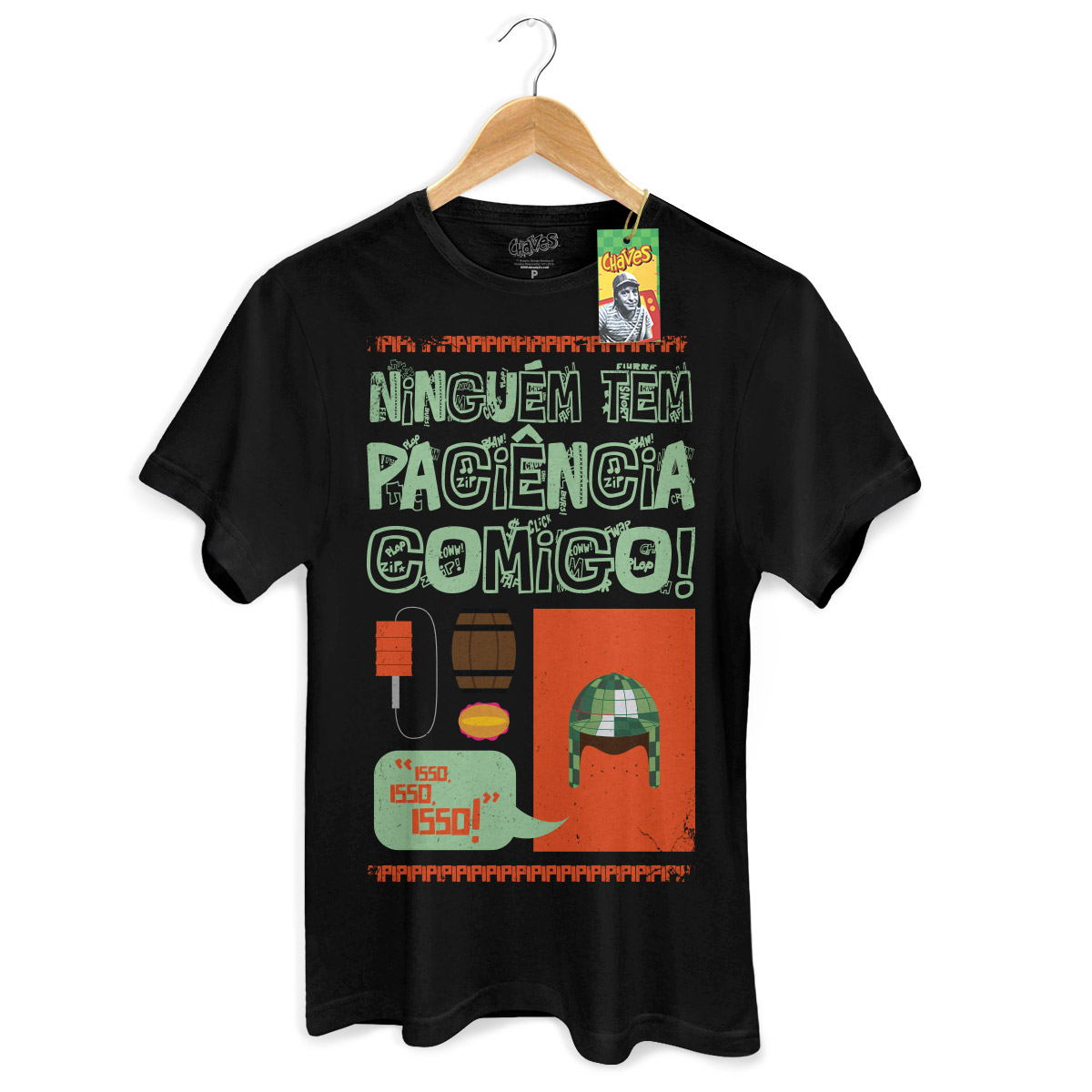 Camiseta Masculina Ícones Chaves Vintage