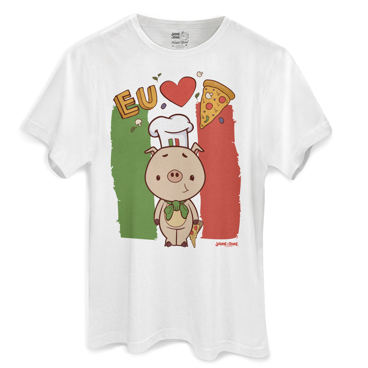Camiseta Masculina Jaime Eu Amo Pizza