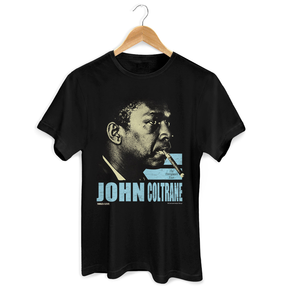 Camiseta Masculina John Coltrane The European Tour
