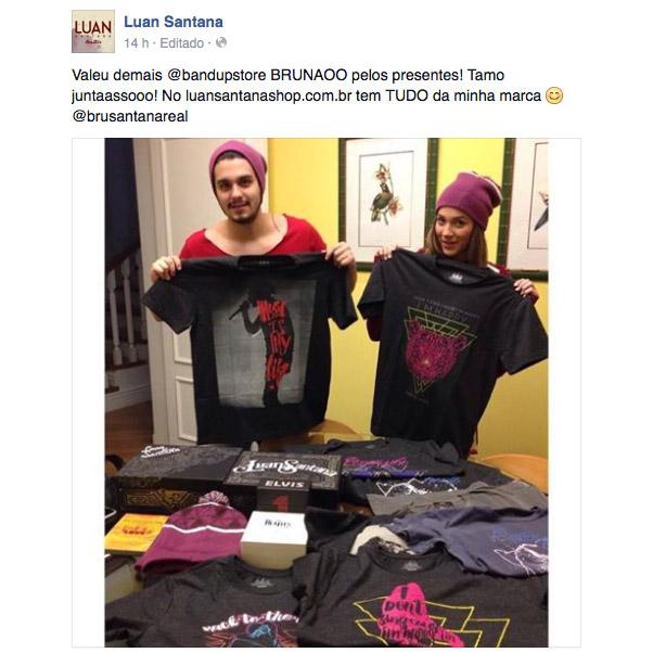 Camiseta Masculina Luan Santana I´m Happy Cause I Sing