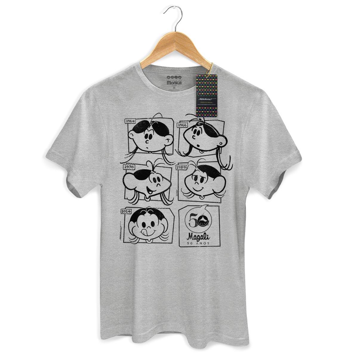 Camiseta Masculina Magali 50 Anos Evolução