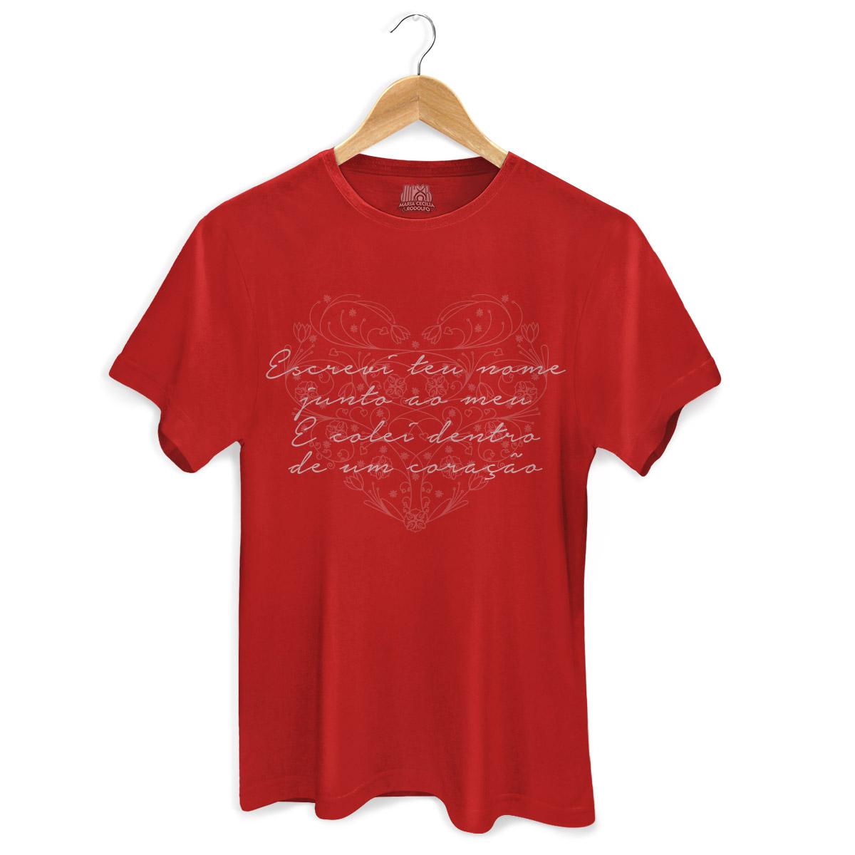 Camiseta Masculina Maria Cecília & Rodolfo Escrevi Teu Nome Red