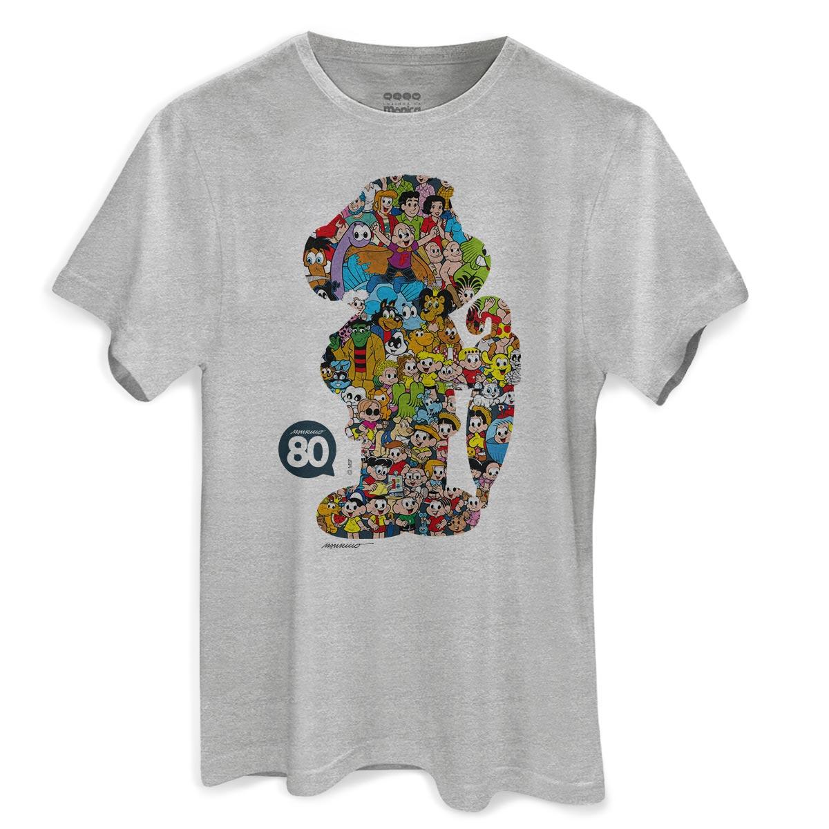 Camiseta Masculina Maurício de Sousa 80 Anos Cascão