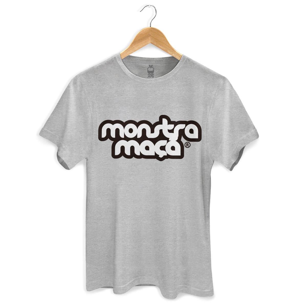 Camiseta Masculina Monstra Maçã Logo