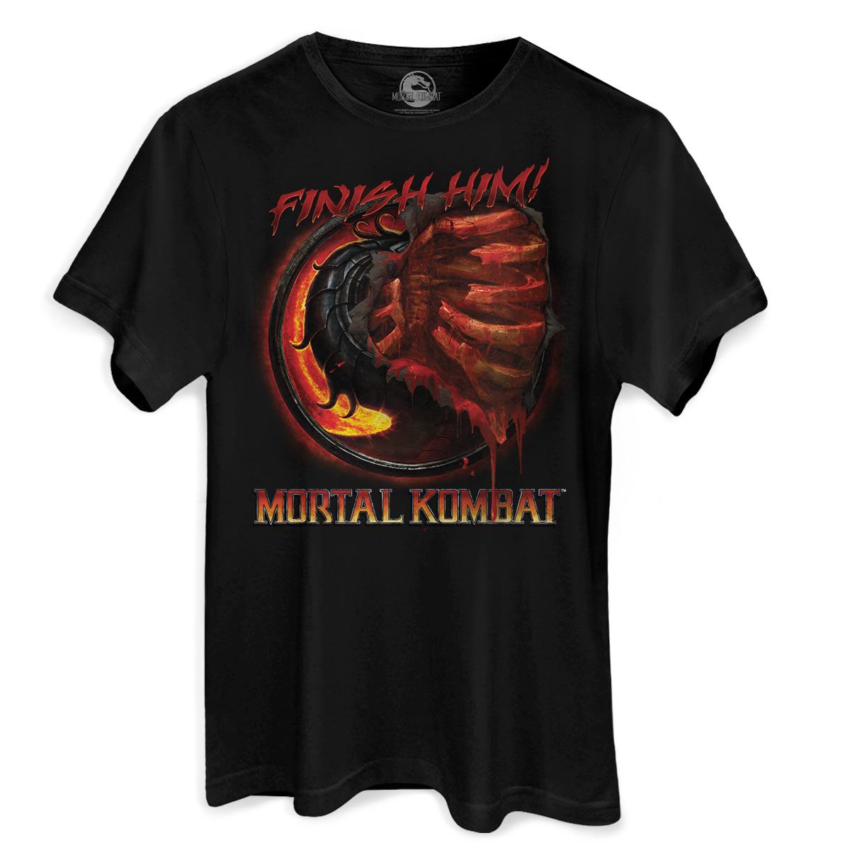 Camiseta Masculina Mortal Kombat Fatality