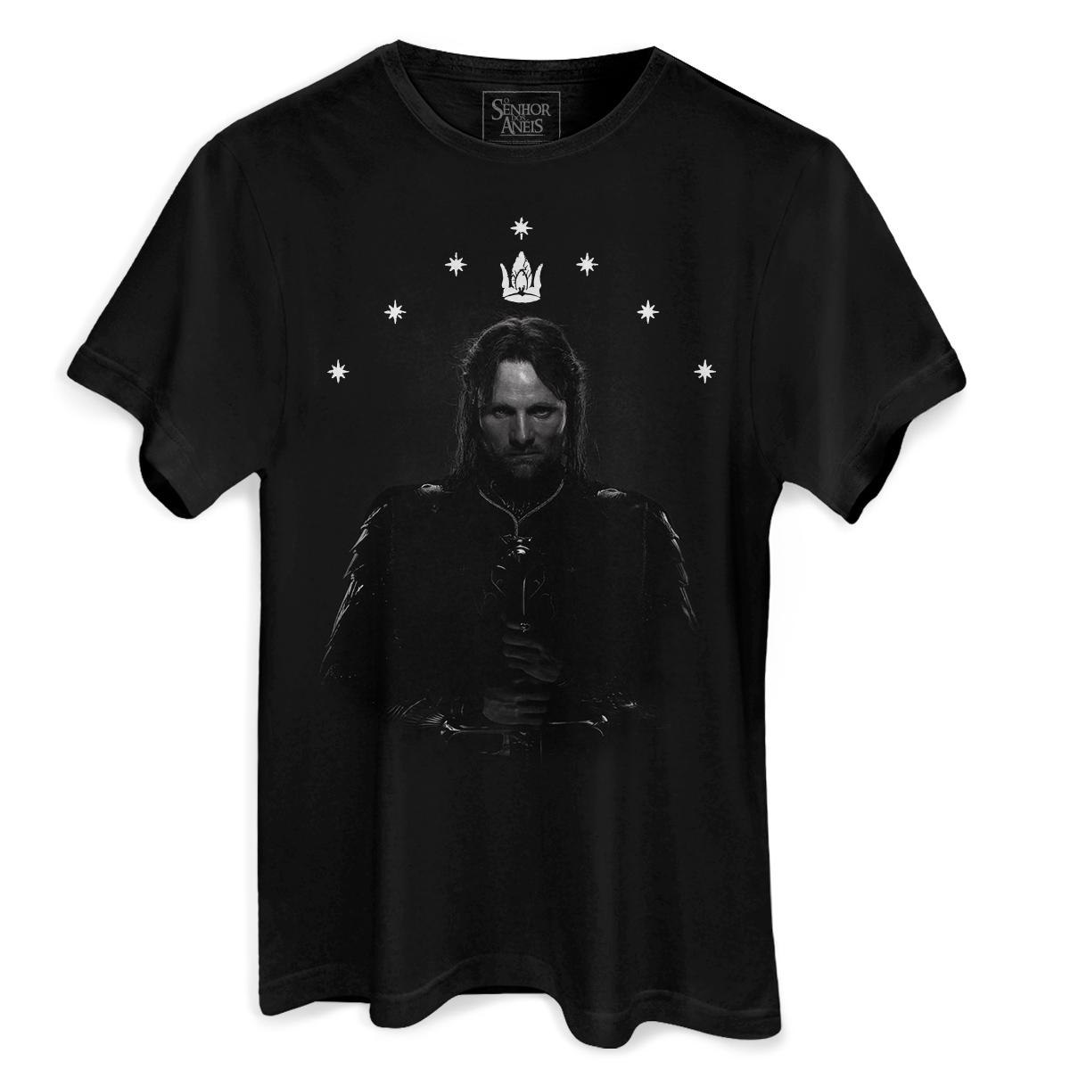 Camiseta Masculina O Senhor dos Anéis Aragorn