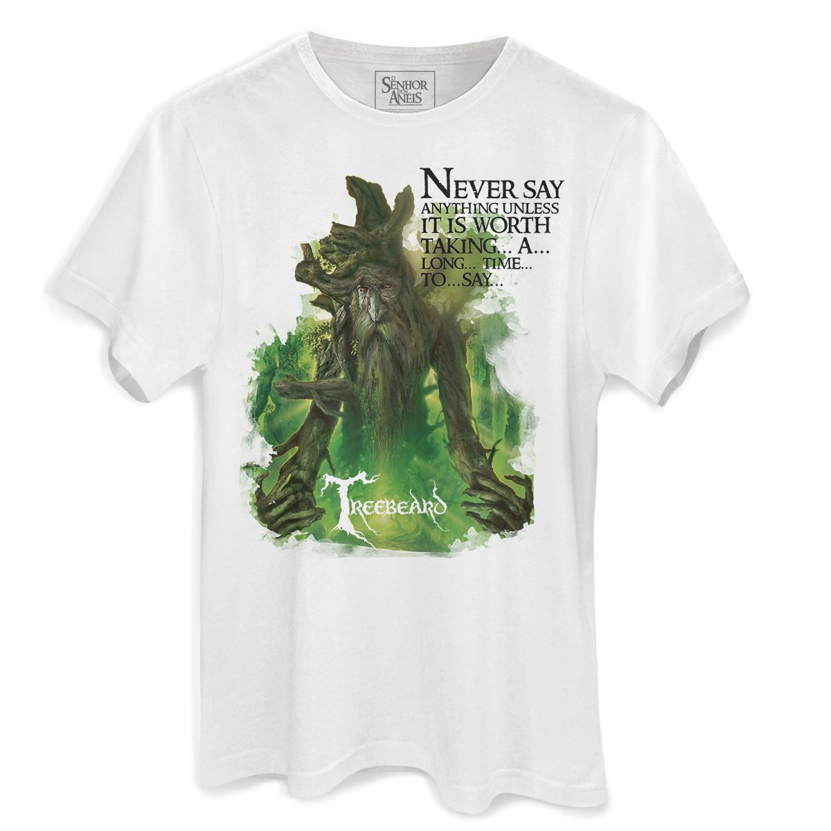 Camiseta Masculina O Senhor dos Anéis Treebeard