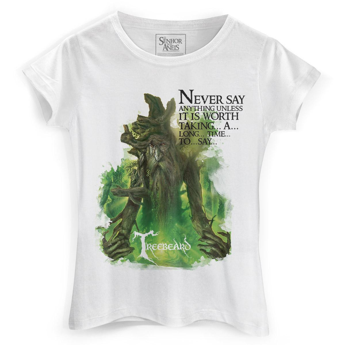 Camiseta Feminina O Senhor dos Anéis Treebeard