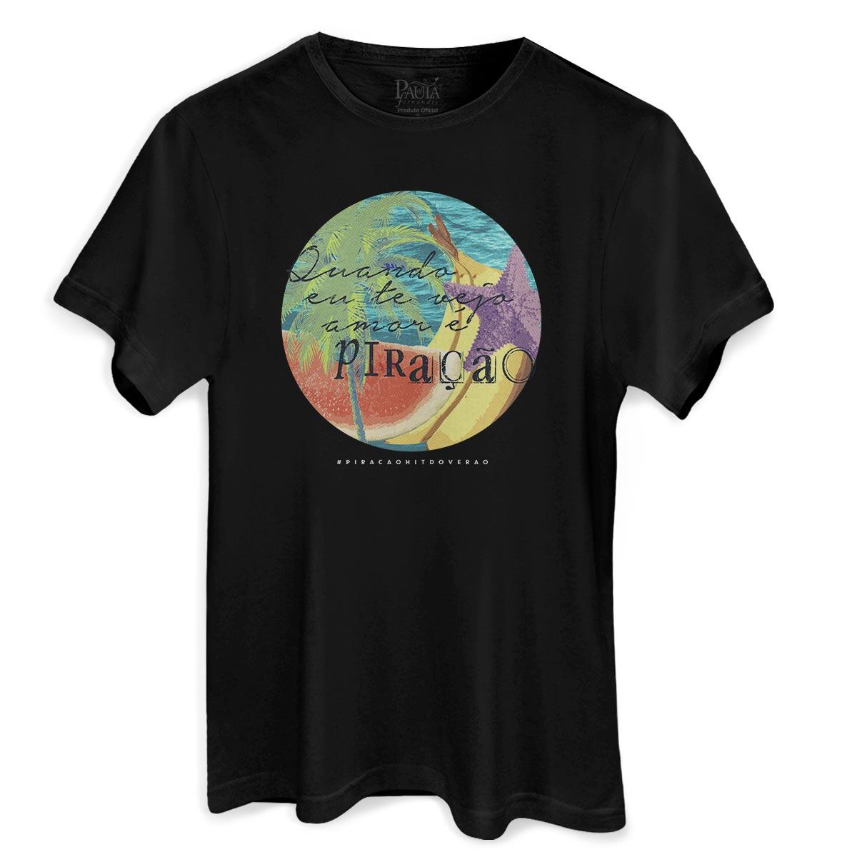 Camiseta Masculina Paula Fernandes Amar é Piração