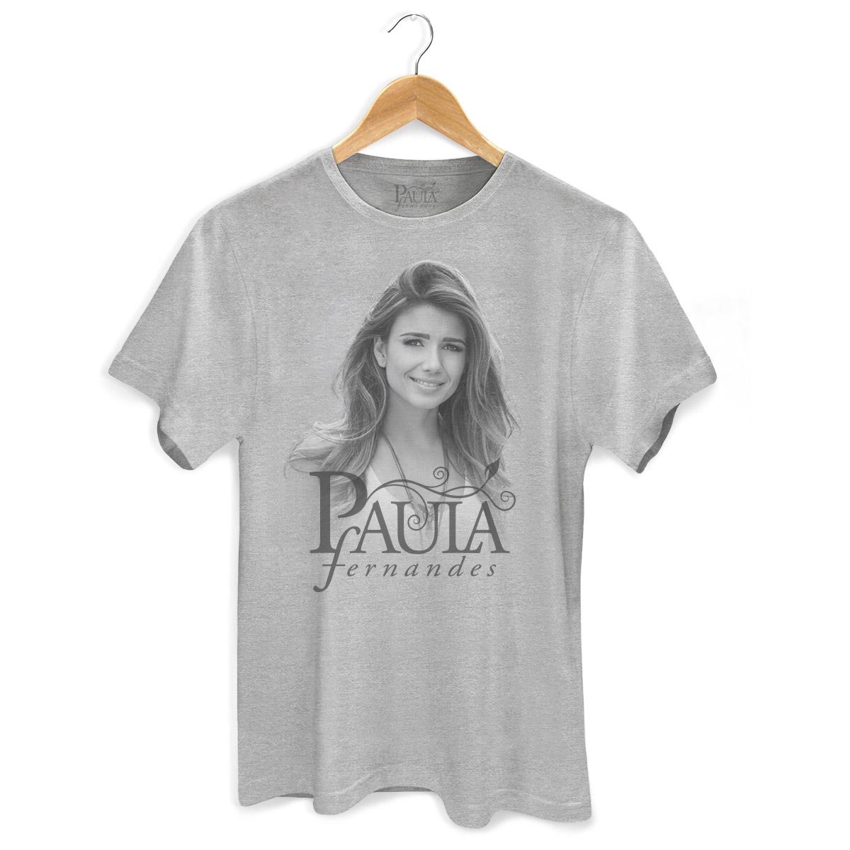 Camiseta Masculina Paula Fernandes Foto Gray