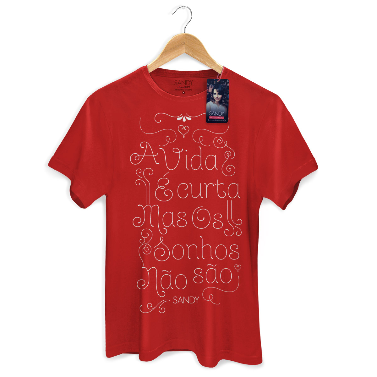Camiseta Masculina Sandy A Vida e Curta Mas Os Sonhos Nao Sao Modelo 3