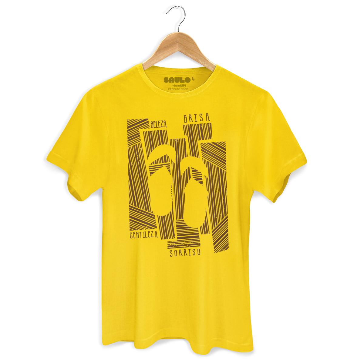Camiseta Masculina Saulo Beleza, Brisa, Gentileza e Sorriso