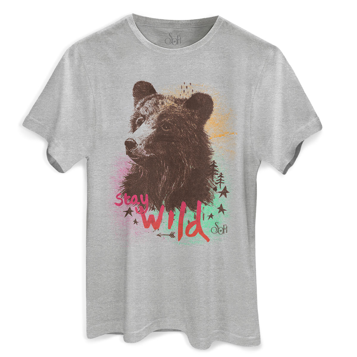 Camiseta Masculina Sofia Oliveira Stay Wild