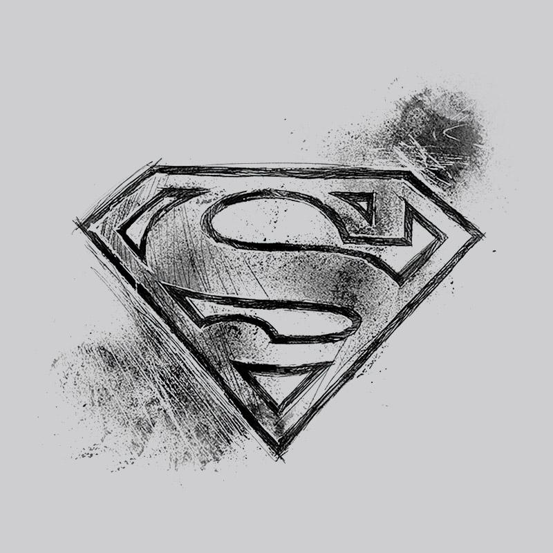Camiseta Masculina Superman Logo Tracing