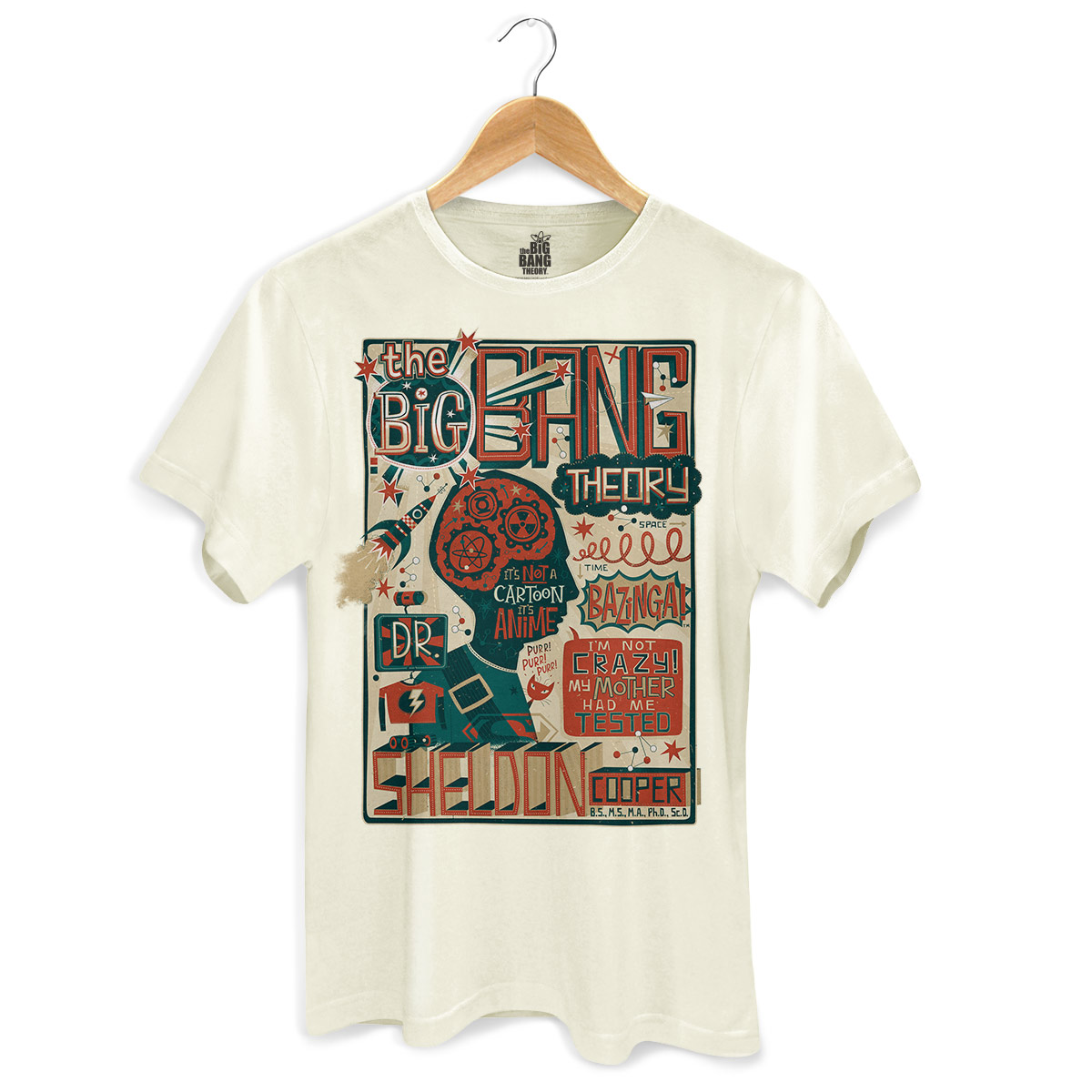 Camiseta Masculina The Big Bang Theory A Teoria de Sheldon