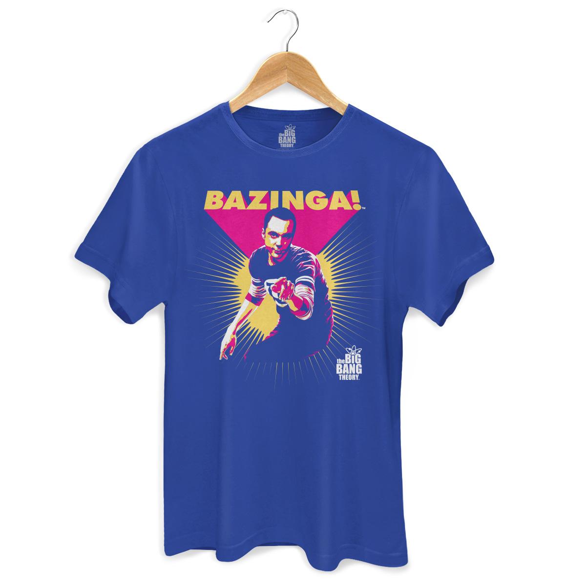 Camiseta Masculina The Big Bang Theory Sheldon Bazinga!