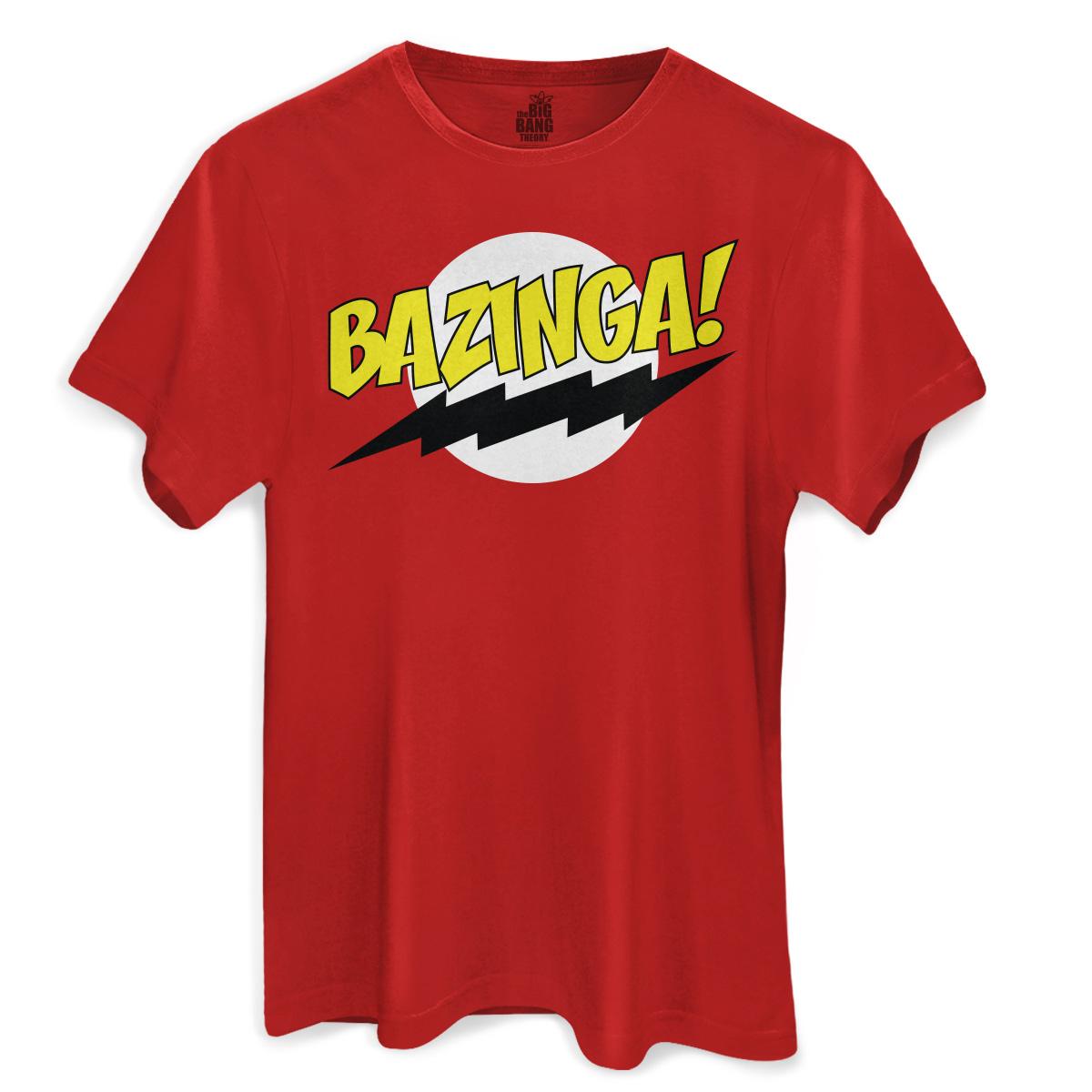 Camiseta Masculina The Big Bang Theory Bazinga! Clássica