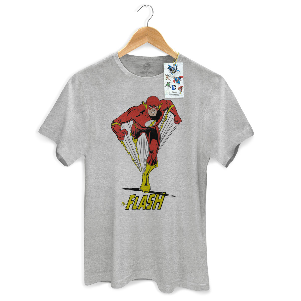 Camiseta Masculina The Flash Em Ação Modelo 2
