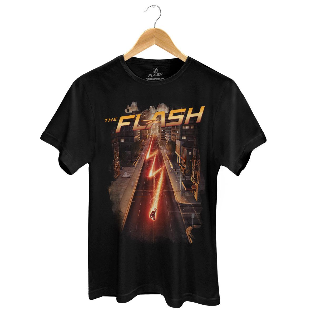 Camiseta Masculina The Flash Serie Speed