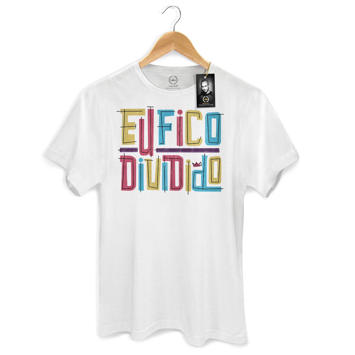 Camiseta Masculina Thiaguinho Eu Fico Dividido Colors
