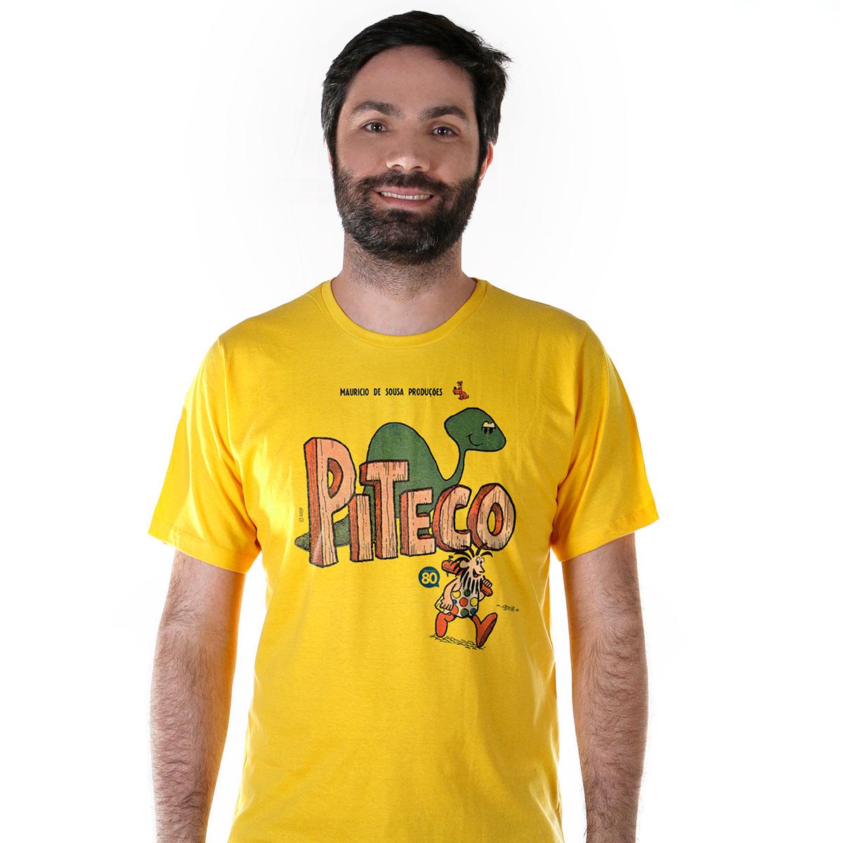Camiseta Masculina Turma da Mônica HQ Piteco