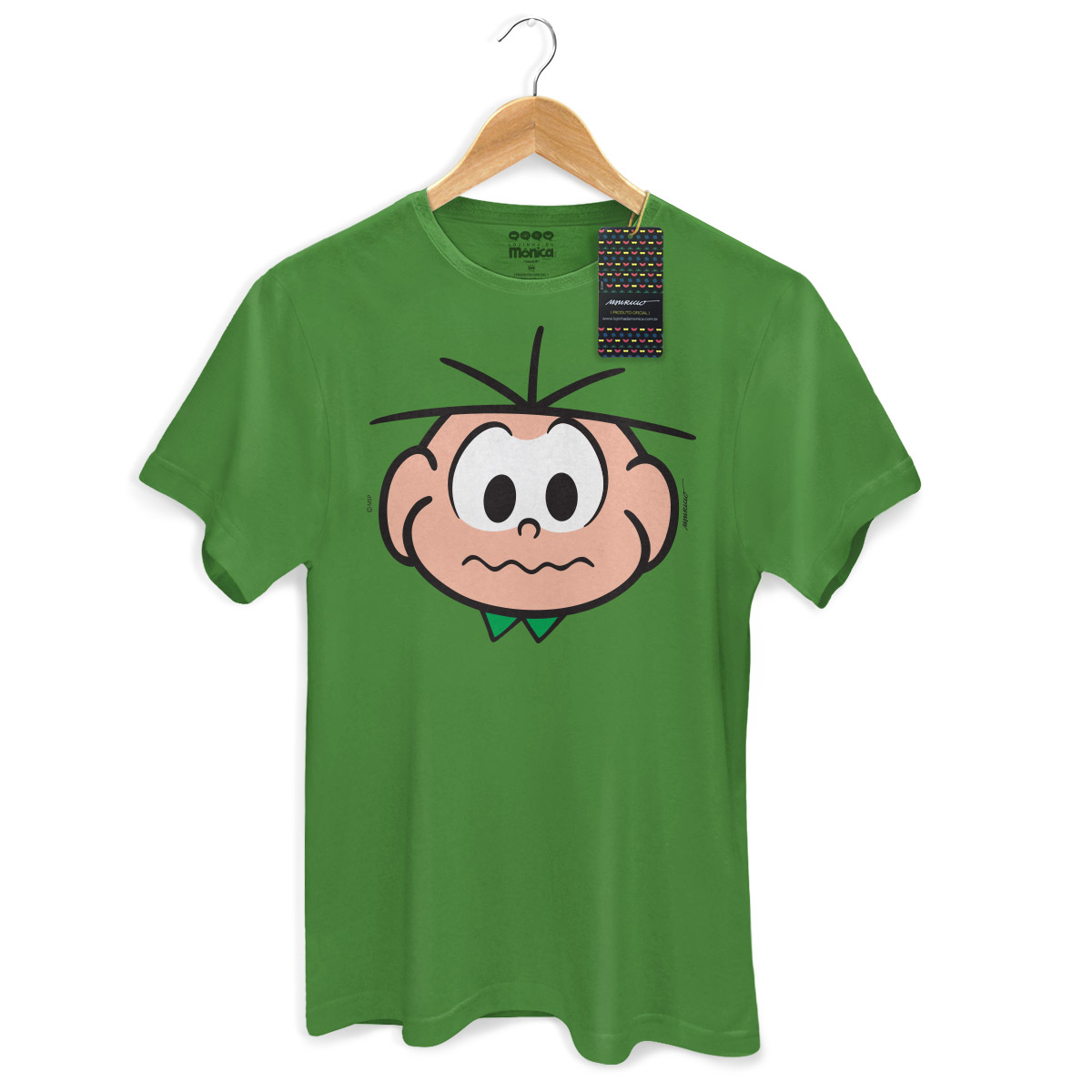 Camiseta Masculina Turma Da Mônica Kids Face Cebolinha