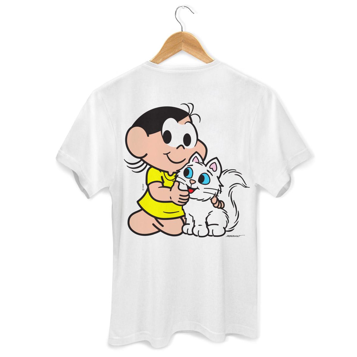 Camiseta Masculina Turma da Mônica Kids Olhões Mingau